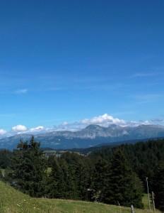 Mont Revard 2014 Au loin Mont Blanc